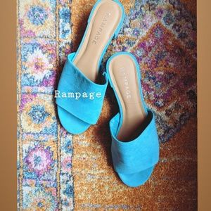 RAMPAGE • Turquoise Mules